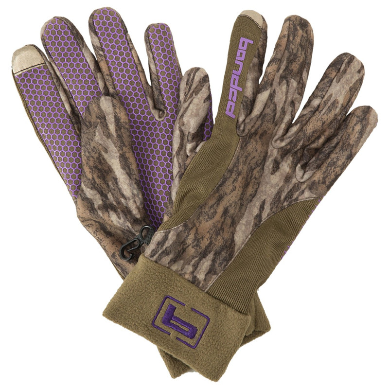 Banded Womens Fleece Gloves in Mossy Oak Bottomland Color