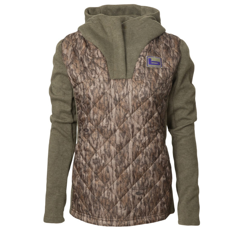 Banded Women's Kinetic Hybrid Hoodie in Mossy Oak Bottomland Color