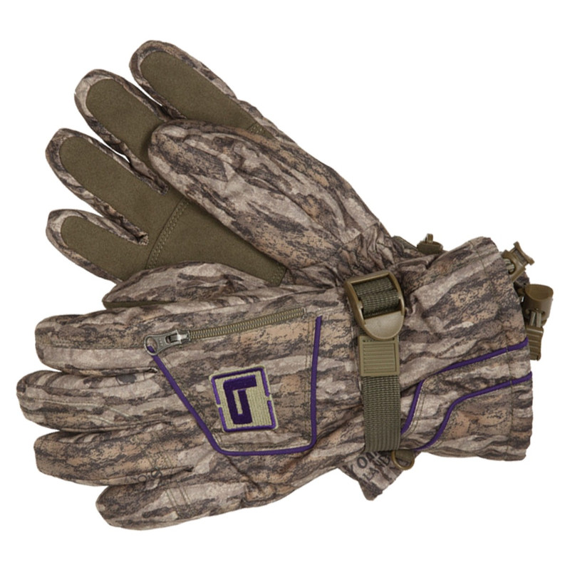 Banded Womens White River Gloves in Mossy Oak Bottomland Color