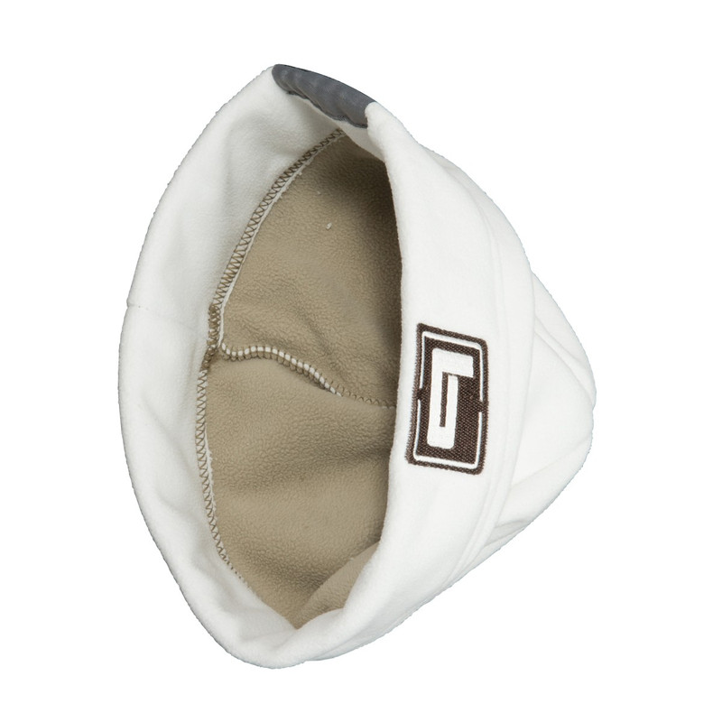 Banded UFS Fleece Beanie in White Color
