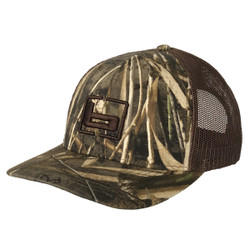 Banded Logo Camo Trucker Hat with Mesh Back