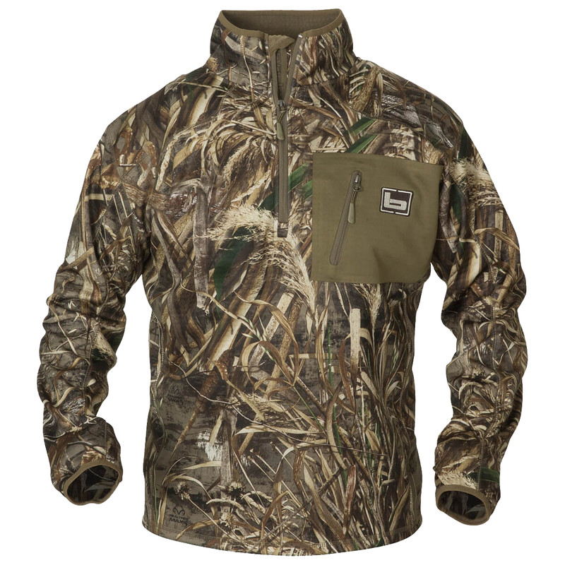 Banded Quarter Zip Mid Layer Pullover in Realtree Max 5 Color