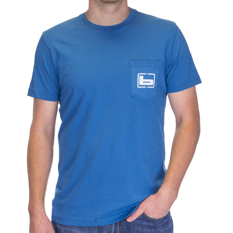 Banded Black Duck Short Sleeve T-Shirt in Wake Blue Color