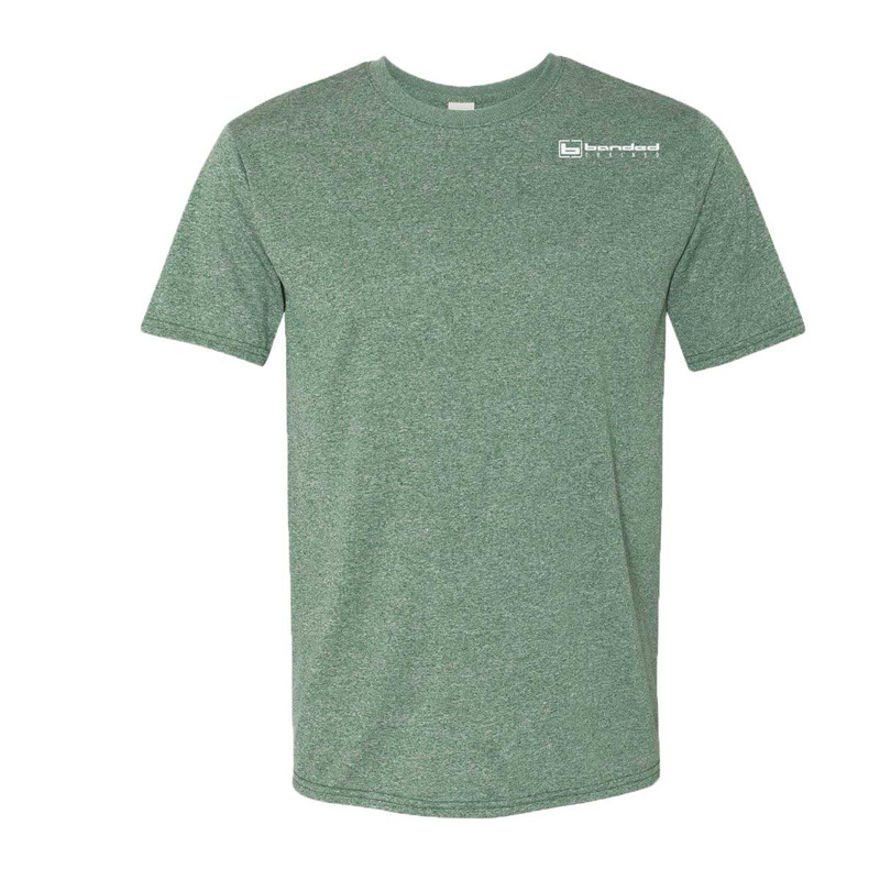 Banded Trained Performance Short Sleeve Shirt in Dark Green Color