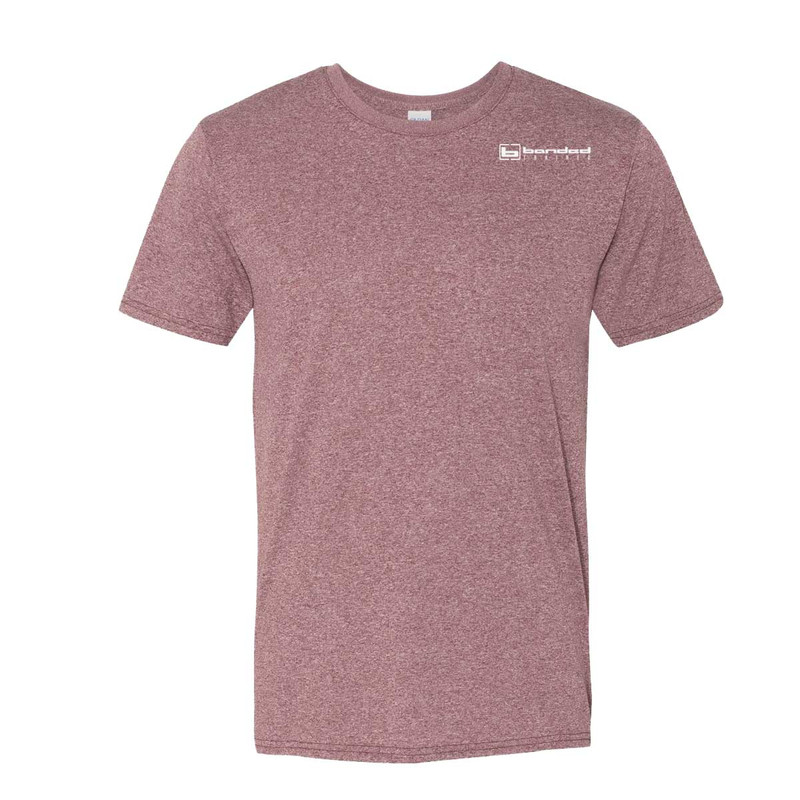 Banded Trained Performance Short Sleeve Shirt in Maroon Color
