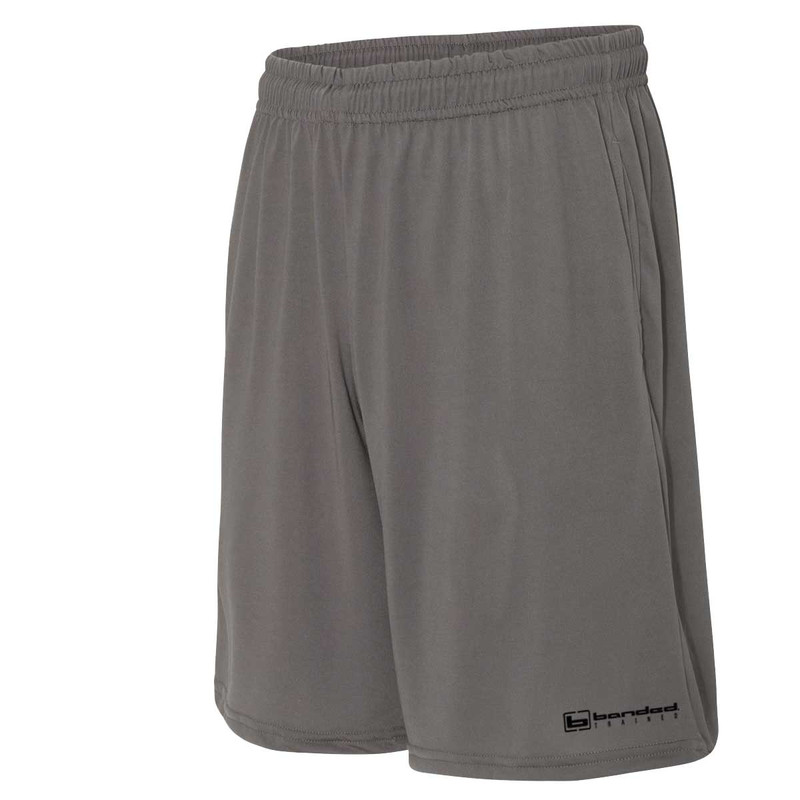Banded Trained Performance 9 Inch Inseam Shorts in Charcoal Color