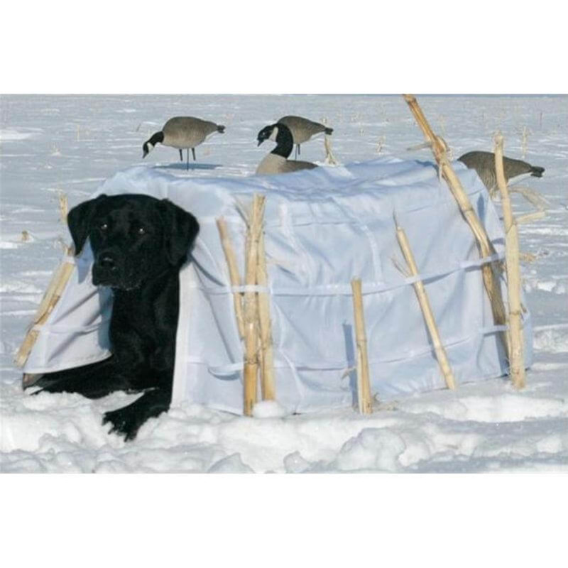 Banded Snow Cover for Dog Blind