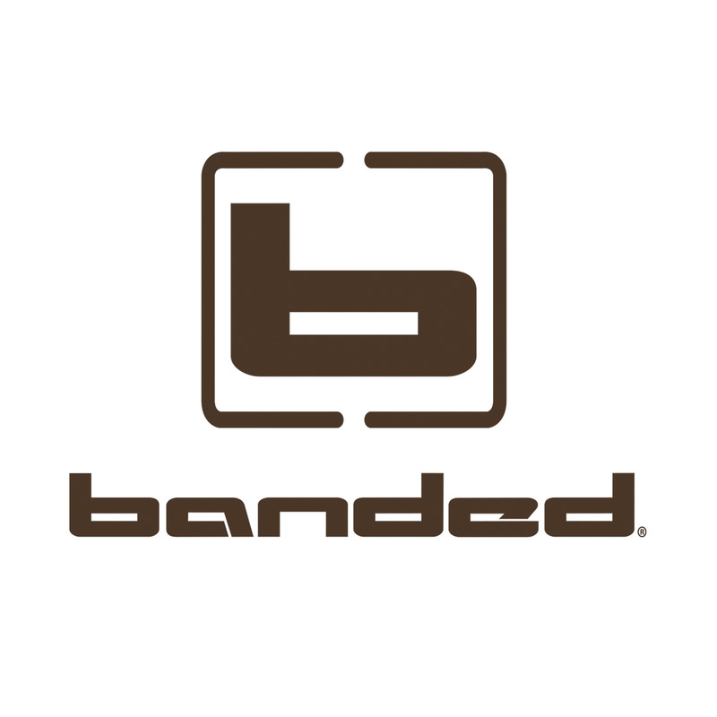 Banded Vertical Logo Decal in Brown Color