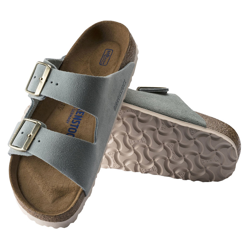 Birkenstock Arizona Soft Footbed Suede in Light Blue Color