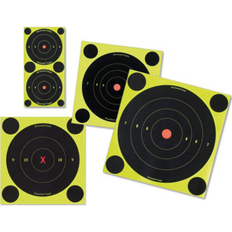 "Birchwood Shoot -N-C Self Adhesive Bull's Eye - 8"" Round 6-Pack"