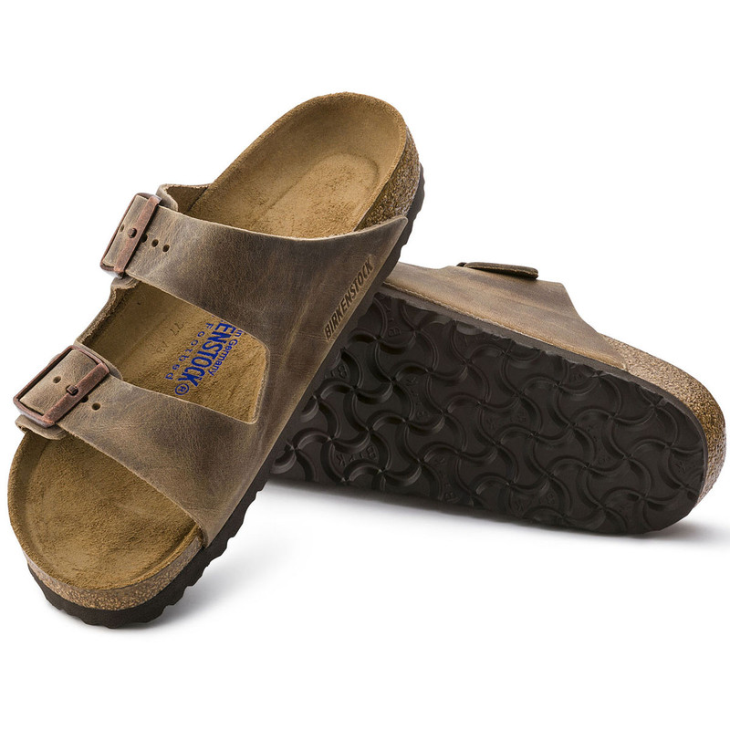 Birkenstock Arizona Softbed Oiled Nubuck Leather in Tobacco Brown Color