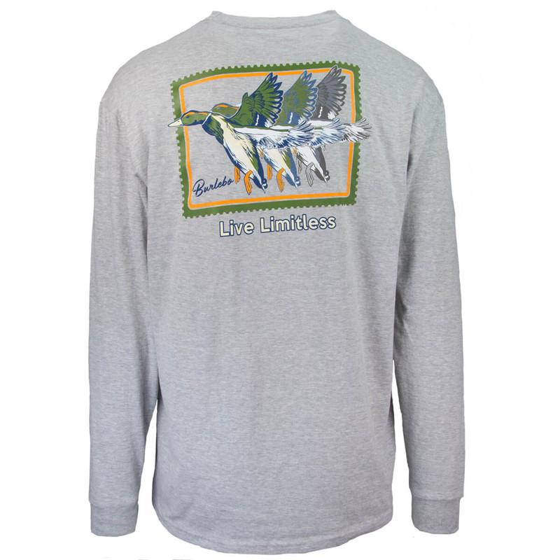 Burlebo Live Limitless Long Sleeve Tee - Men's in Light Heather Gray Color
