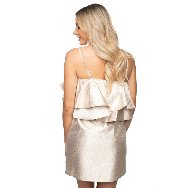 Buddy Love Kelsey Party Dress in Gold Color