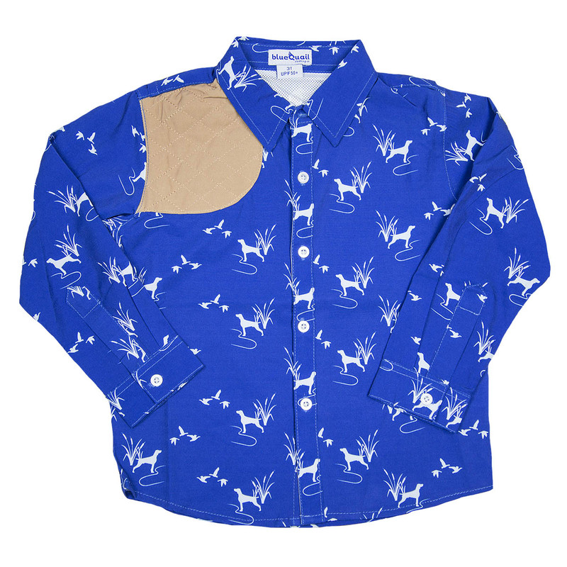 Blue Quail Company Ranch Collection Shooting Button Down in Bird Dog Color