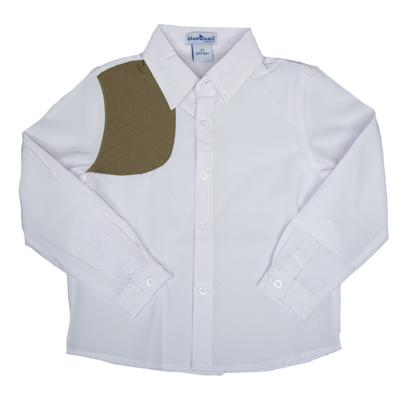 Blue Quail Company Ranch Collection Shooting Button Down in White Color