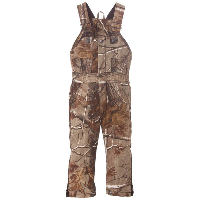 Berne Youth Bucksnort Insulated Bib Overalls in Realtree Edge Color