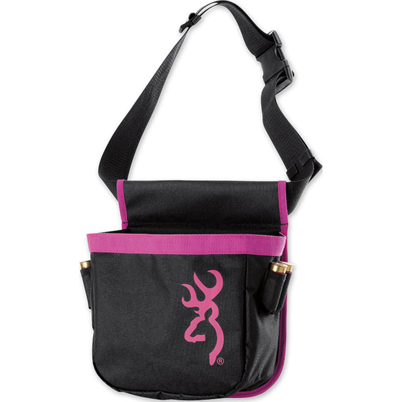 Browning Pure Buckmark Short Shell Pouch For Her - Black and Pink