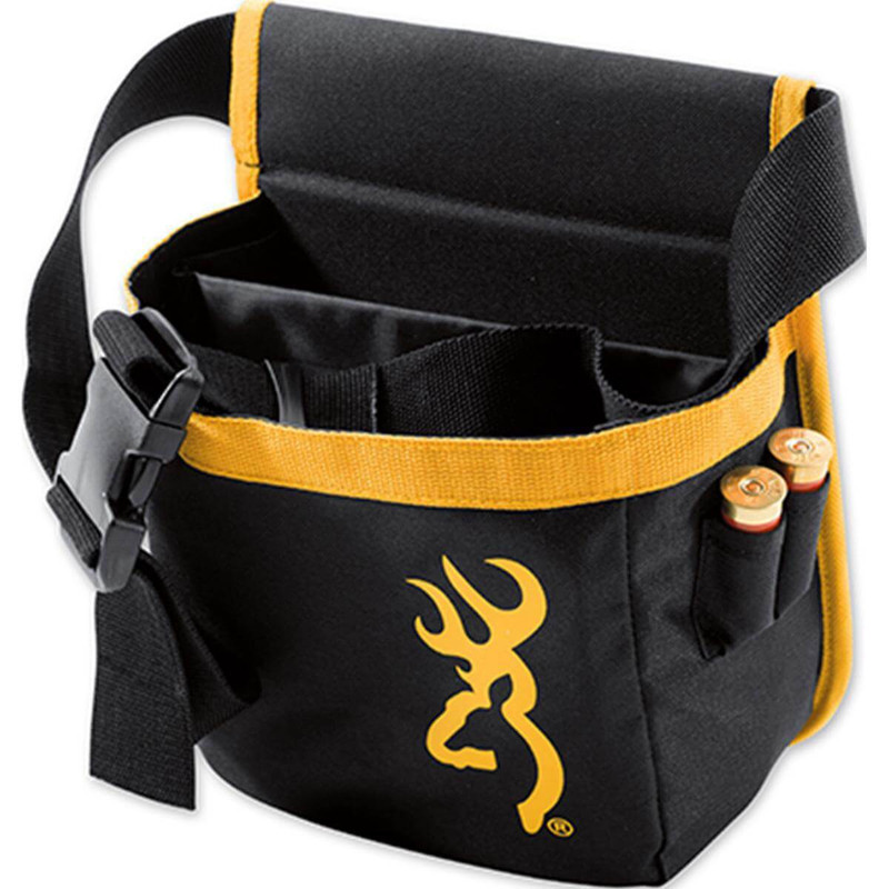 Browning Pure Buckmark Short Shell Pouch - Black and Gold