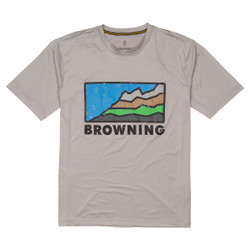 Browning Short Sleeve Shooting Sun Shirt Light Gray/Mountain