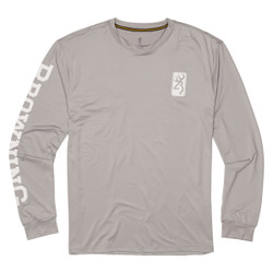 Browning Long Sleeve Shooting Sun Shirt - Grey/Browning