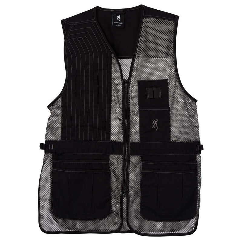 Browning Trapper Creek Mesh Shooting Vest in Black Gray Color