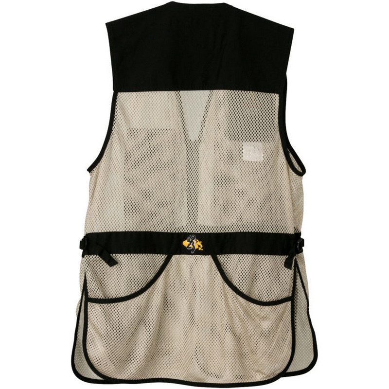 Browning Trapper Creek Mesh Shooting Vest in Black Tan Color