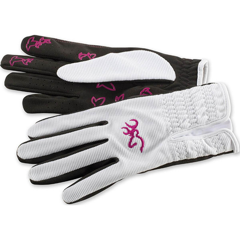 Browning Womens Trapper Creek Mesh Back Shooting Glove in White