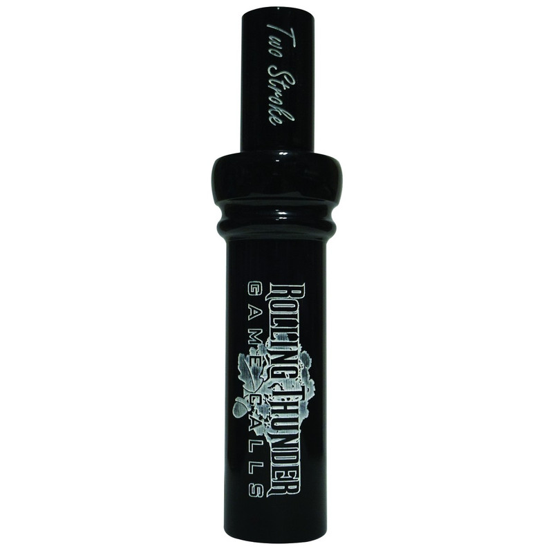 Rolling Thunder Two Stroke Double Reed Duck Call in Black Color