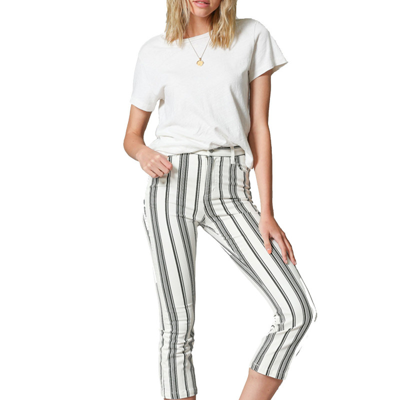 By Together Vertical Stripe Pants in Black White Color