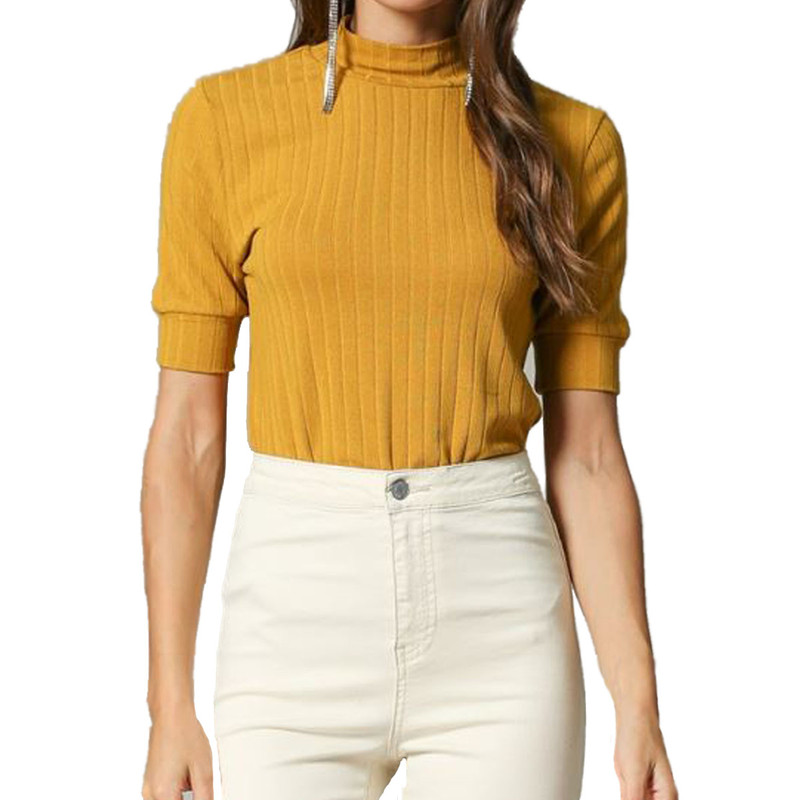 By Together Must Have Mock Neck Top in Mustard Color