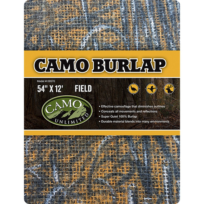 "Camo Systems Camo Burlap - 54"" X 12' in Field Color"