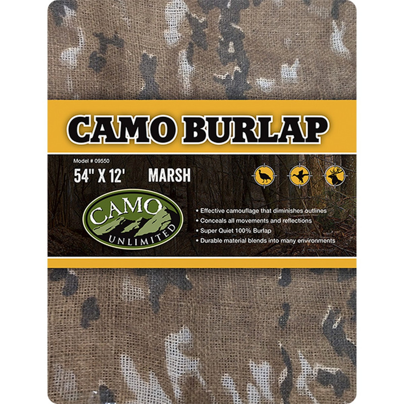 "Camo Systems Camo Burlap - 54"" X 12' in Marsh Color"