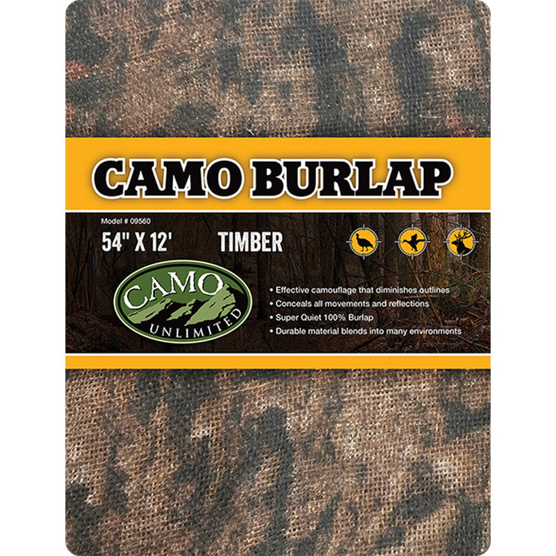 "Camo Systems Camo Burlap - 54"" X 12' in Timber Color"