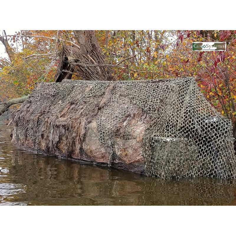 Camo Systems Premium Boat Blind Top Cover 17'-19' Green/Brown