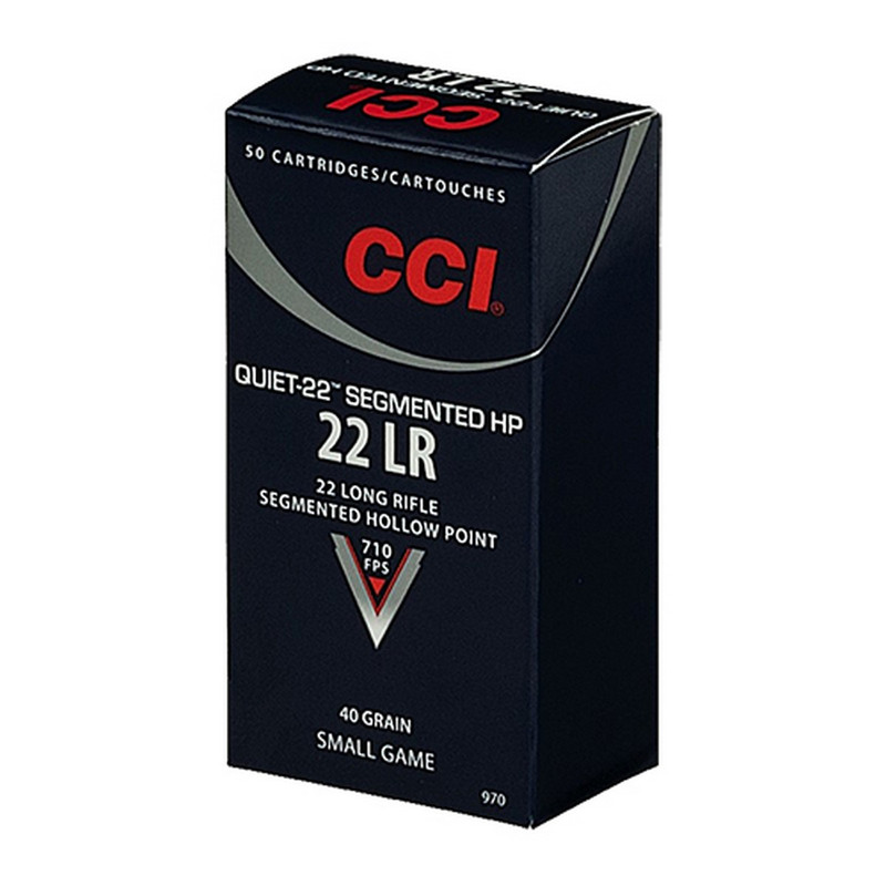 CCI Quiet-22 22 LR 40 Grain Segmented HP