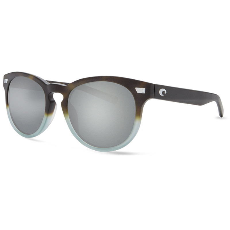 Costa Del Mar Matte Tide Pool Frame Gray Silver Mirror Lens 580G