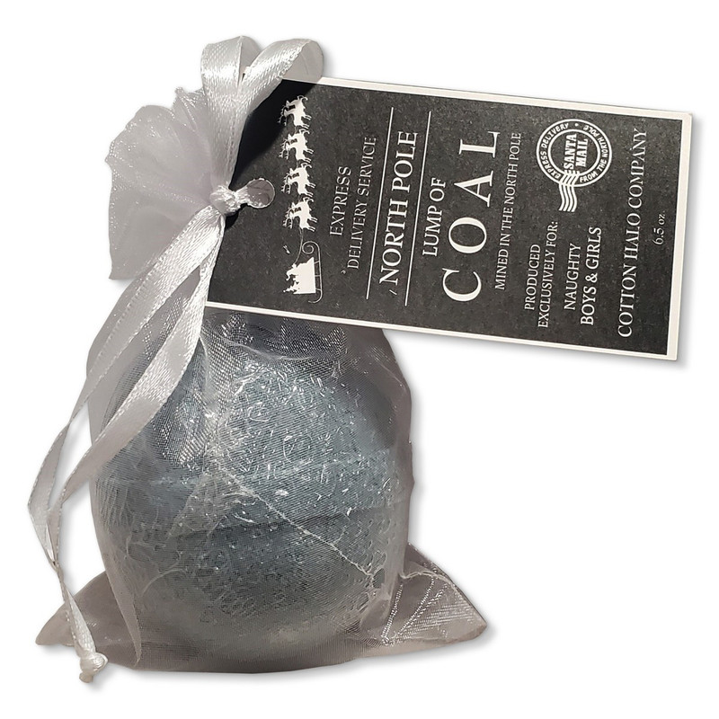 Cotton Halo Co. Original Bath Bomb in Lump of Coal Flavor