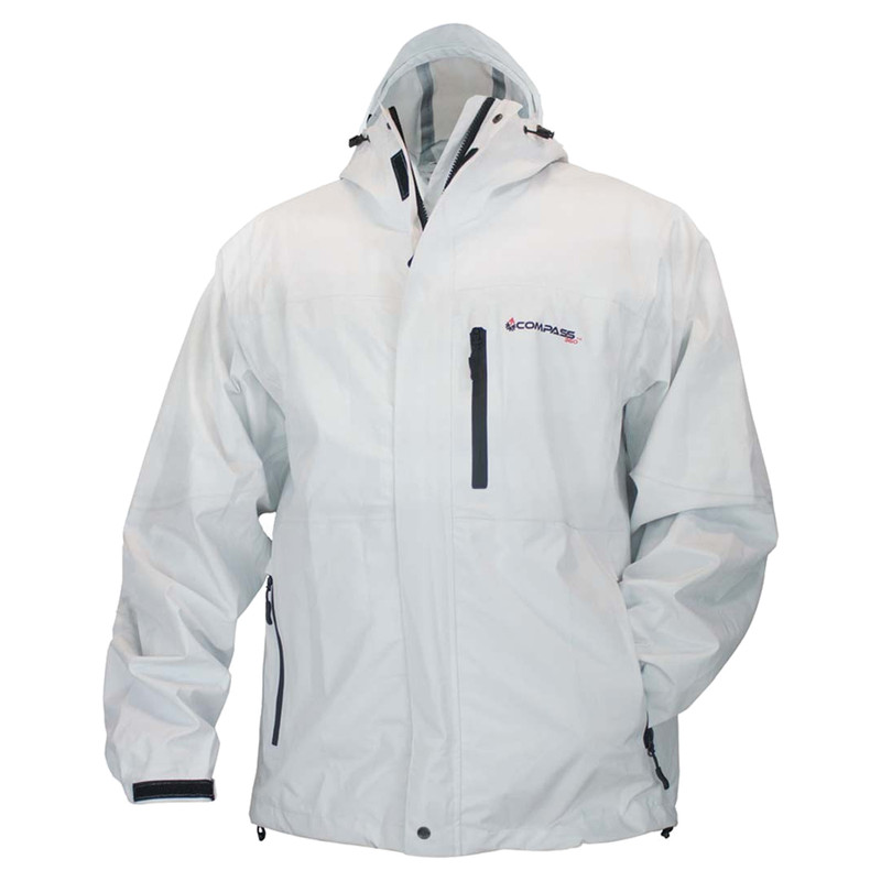 Compass 360 HydroTek Rain Jacket in White Color