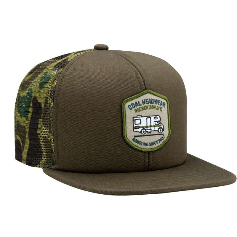 Coal The Rambler Camo Trucker Hat - Olive