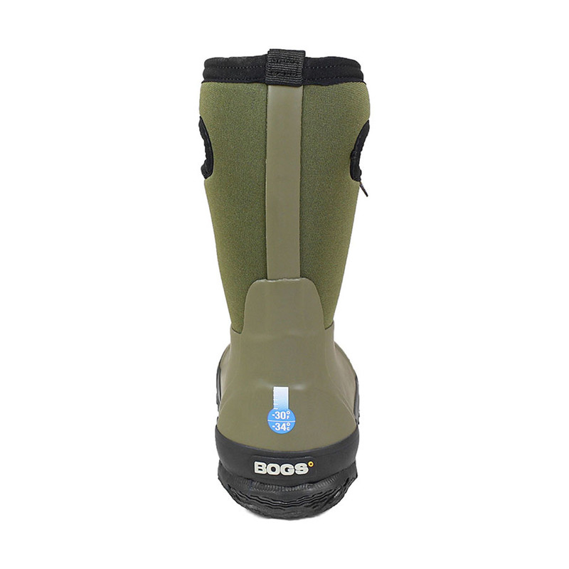 Bogs Classic Matte Kids' Insulated Rain Boots - Dark Green in Dark Green Color