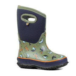 Bogs Classic David Rollyn Kids' Insulated Rain Boots