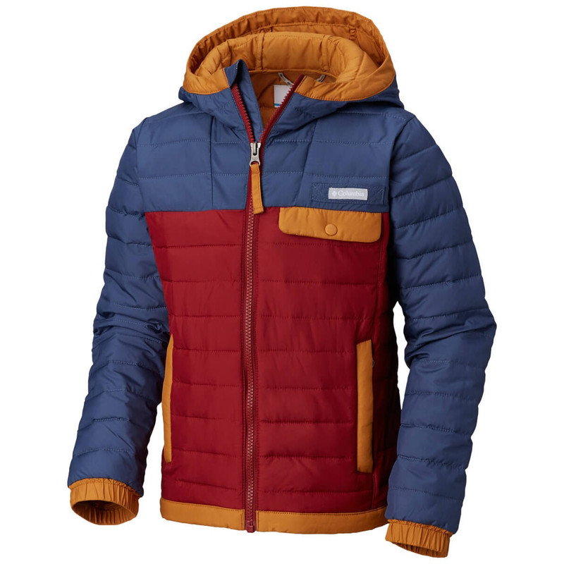 Columbia Youth Mountainside Full Zip in Dark Mountain Red Element Color