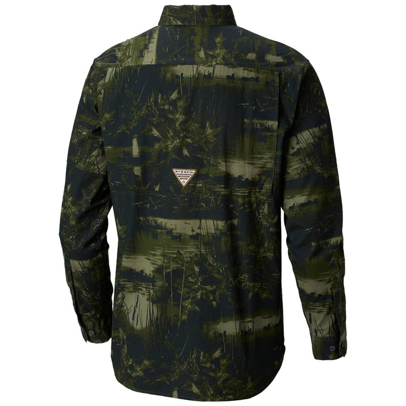 Columbia Men's Shooter's Best LS Shirt in Surplus Green Duck Color