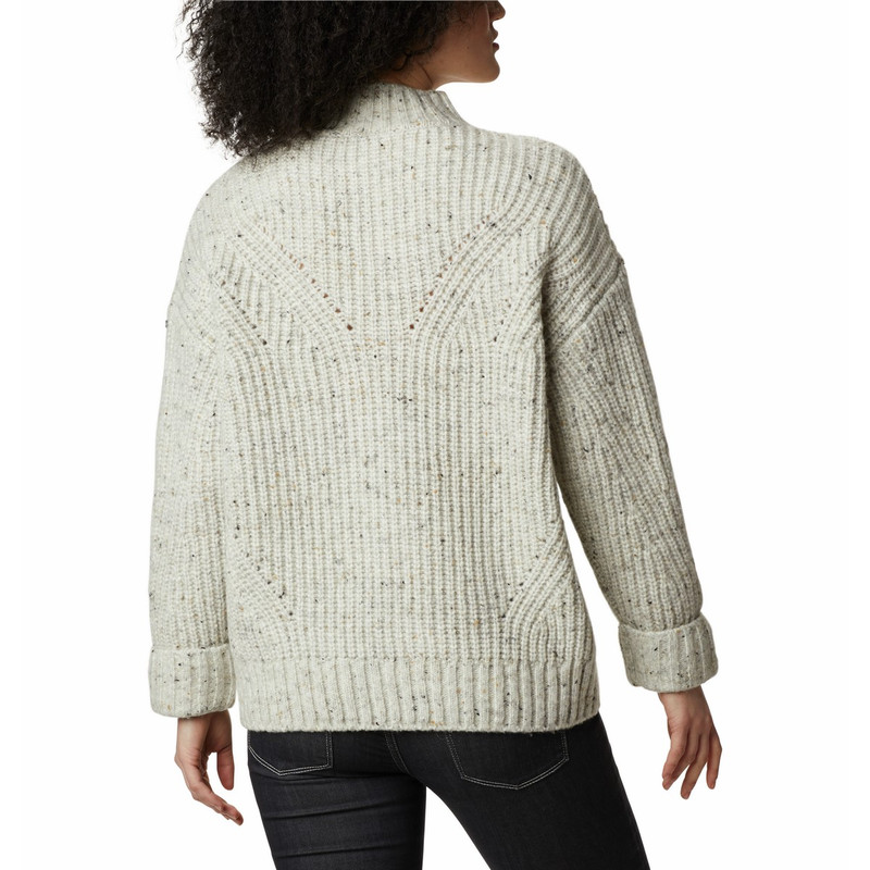 Columbia Women's Pine Street Sweater in Chalk Heather Color