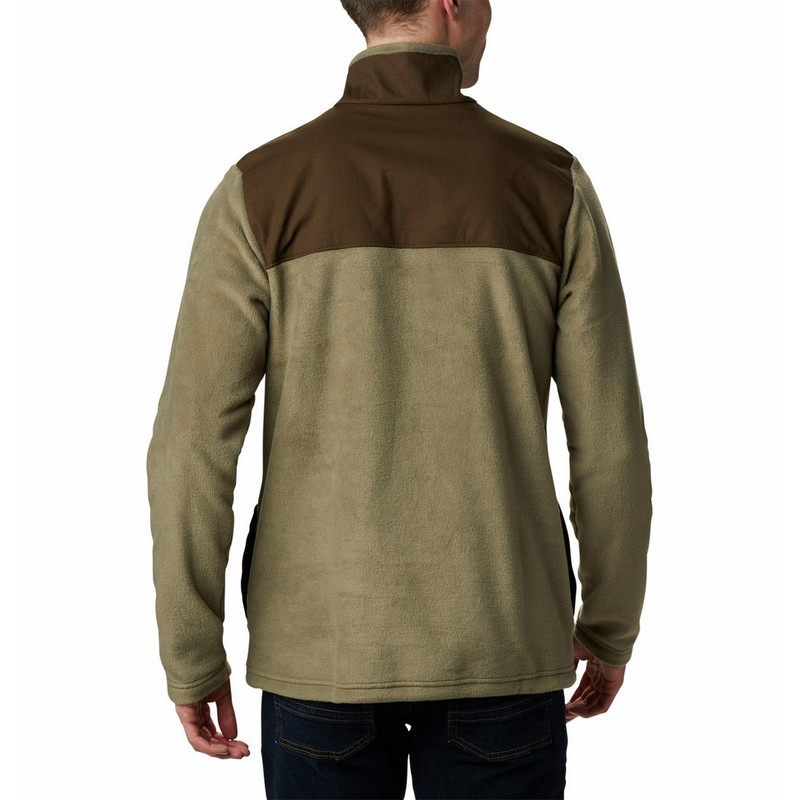 Columbia Men's Cottonwood Park Half Snap in Stone Green Color