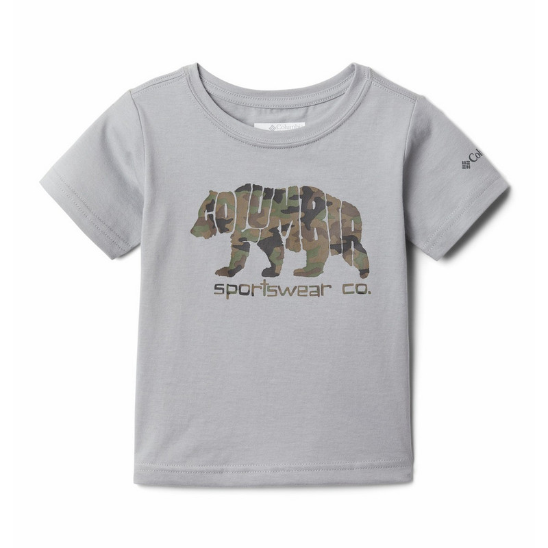 Columbia Boy's Roast And Relax Tee in Columbia Grey Color