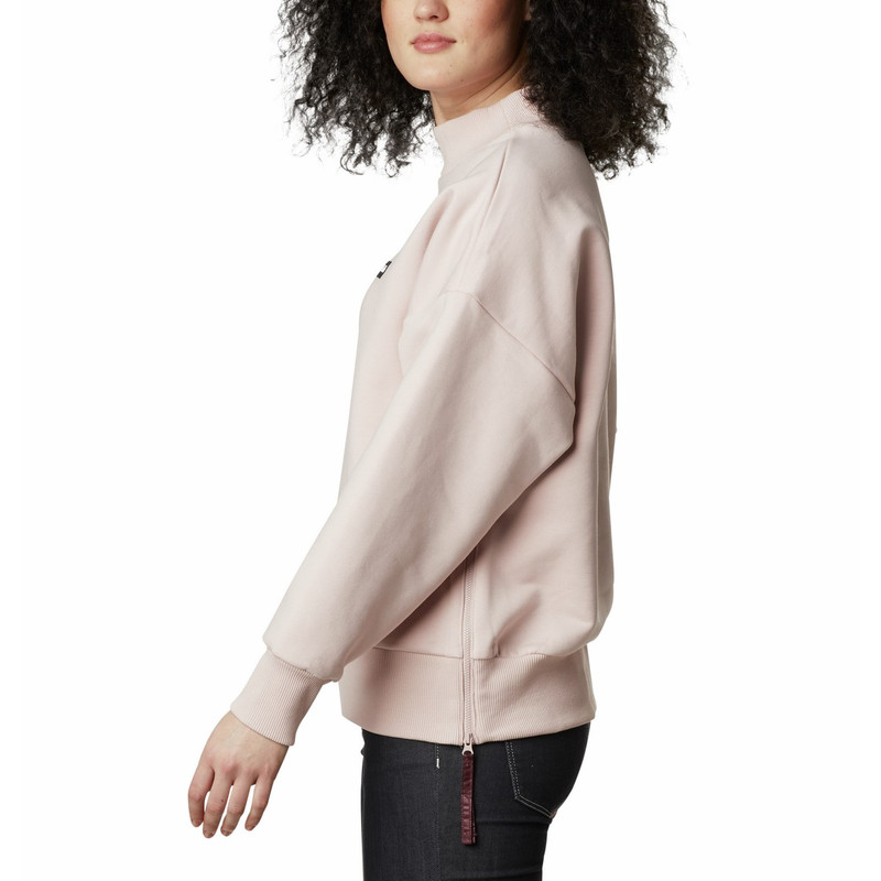Columbia Women's Lodge Heavyweight Crew in Mineral Pink Color