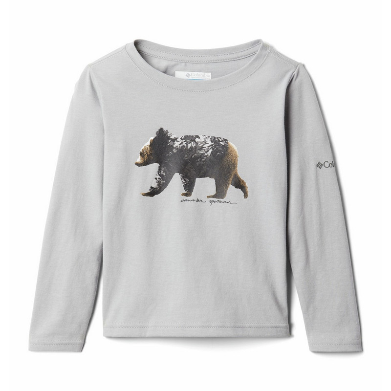 Columbia Girl's Primrose Hill Long Sleeve in Grey Color