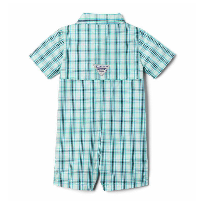 Columbia Infant Bonehead Romper in Dolphin Gingham Color