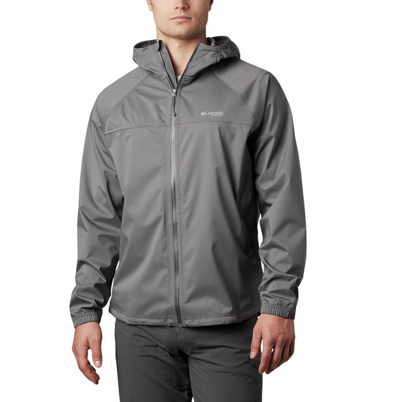 Columbia Men's Tamiami Hurricane Jacket in City Grey Color
